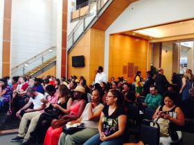 Town Meeting organized by Missouri History Museum on day of Michael Brown's funeral, August 2014