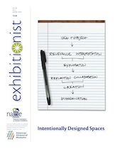 Spring 2014 Exhibitionist, Intentionally Designed Spaces.  Cover design by Maria Mortati