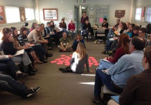 The Coalition conducting a dialogue training with staff of Rocky Mountain National Park credit. Courtesy ICSC