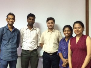 L to R: Sakil, Sourav, Arnab, Moumita, Itisha